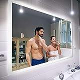 Badspiegel 170x80cm mit LED Beleuchtung - Wählen Sie Zubehör - Individuell Nach Maß - Beleuchtet...