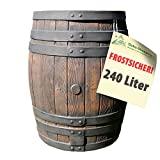 REGENTONNE EICHENFASS SET 240l Liter, das REGENFASS mit fühlbarer Holzstruktur, in sehr schönem...