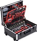 Meister Werkzeugtrolley 238-teilig - Werkzeug-Set - Mit Rollen - Teleskophandgriff / Profi...