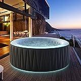 Miweba MSpa aufblasbarer Whirlpool Aurora D-AU06 Outdoor - inkl. LED RGB - für 6 Personen - 138...