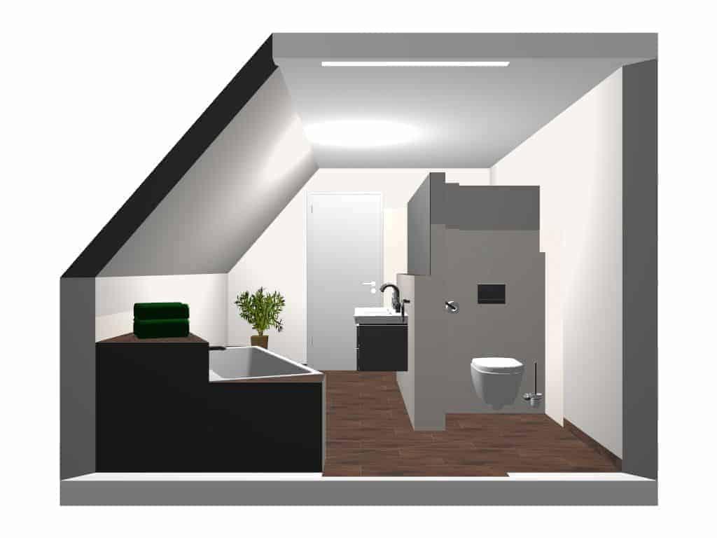 Badezimmer Mit Schrägen Wänden