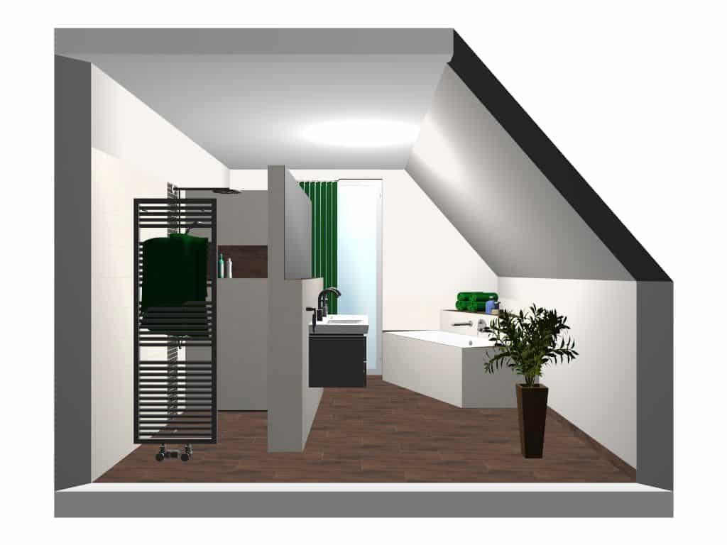 Badezimmerplanung Dachschrägen Visualisierung Badezimmerplanung Dachschrägen  Visualisierung