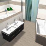 Badezimmerplanung ohne Dachschrägen Visualisierung