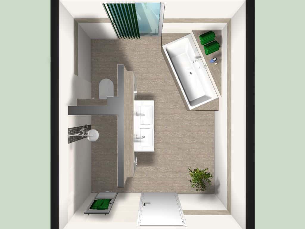 fliesen und badezimmer planung im neubau, Badezimmer