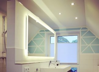 Badspiegel mit Beleuchtung - Unser Badezimmerspiegel