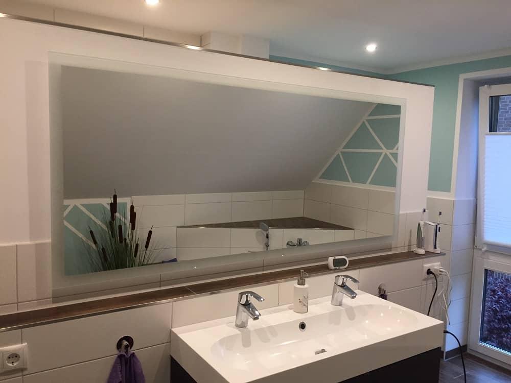 ... Badezimmerspiegel Mit Led Lampen Dass Inklusive Im Badspiegel Mit  Beleuchtung Komplettiert Unsere Badezimmerplanung ...