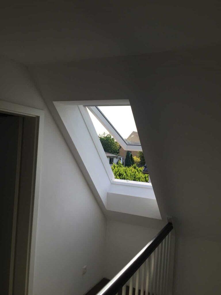 Dachfenster geöffnet - Kippöffnung
