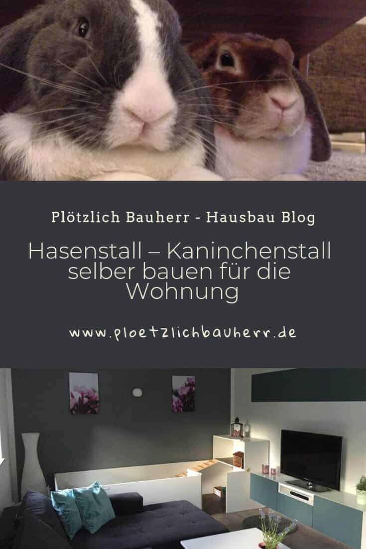 Hasenstall - Kaninchenstall selber bauen für die Wohnung #Kaninchen #Hasenstall #DIY #Indoor