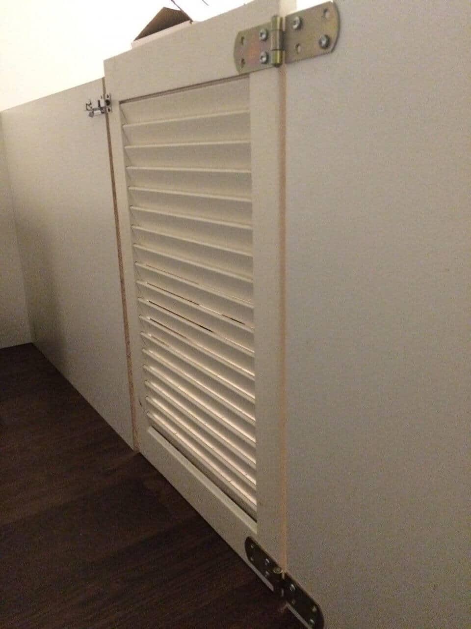 Lamellentür Selber Bauen : An Lamellentüren hatten wir ziemlich früh gedacht, die Idee aber ...