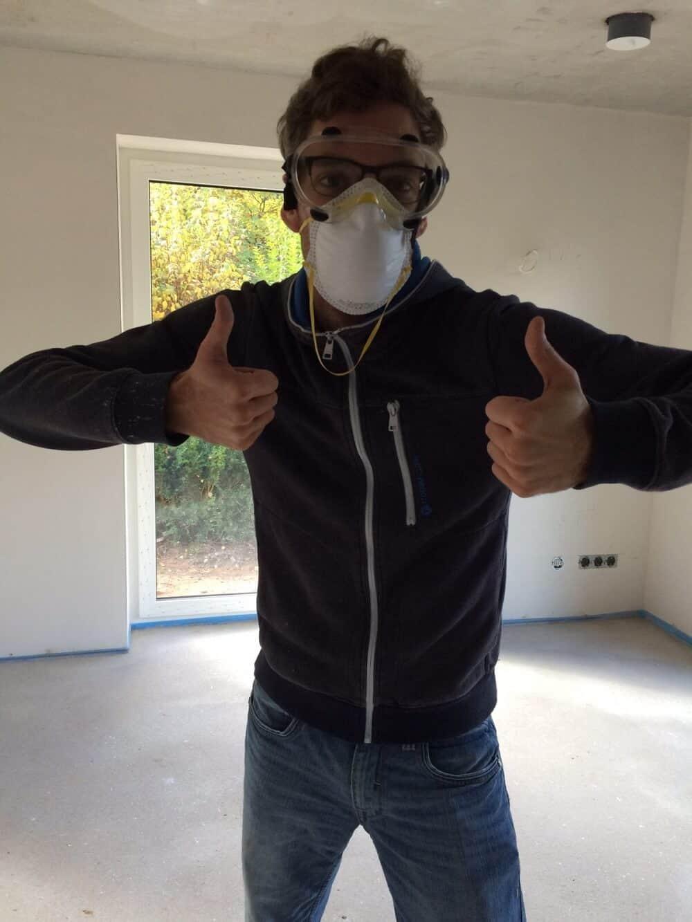 Stahlbetondecke Im Neubau Decke Verputzen Spachteln Und Streichen