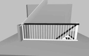 Innentreppe mit Treppengeländer Skizze