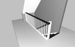 Treppengeländer im Obergeschoss