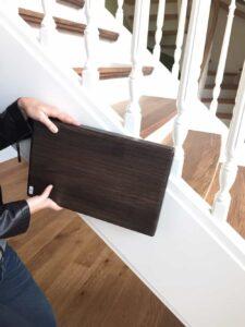 Treppenstufe Buche stabverleimt gebeizt