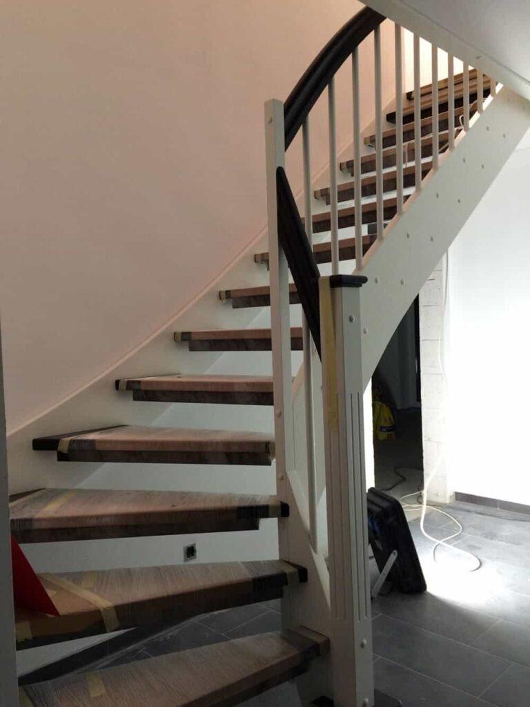Wangentreppe frisch eingebaut