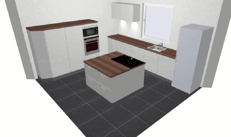 Eigene Ideen und Skizzen für die Küchenplanung