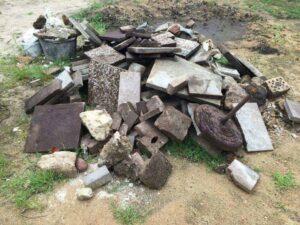 Bauschutt im Garten vergraben