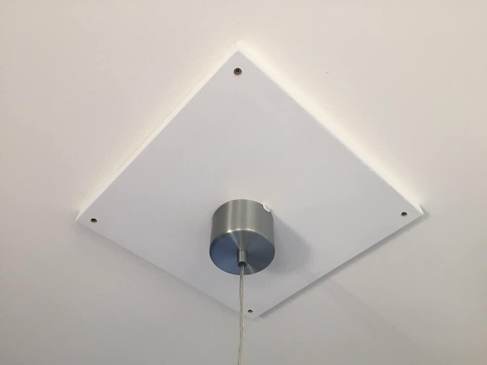 Lampe an der Decke anbringen trotz Stahlträger - Unser DIY Trick für ...
