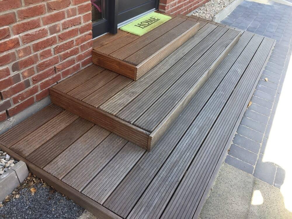 Holztreppe selber gebaut