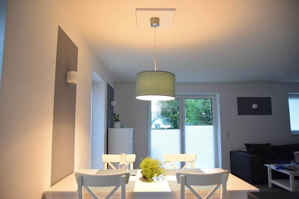 Wohnzimmer Lampe Anbringen An Der Decke Trotz Stahltrger Unser DIY Trick Fr