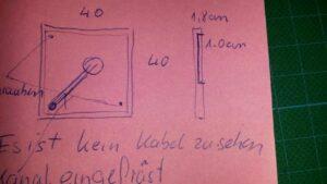Skizze für das Holzbrett