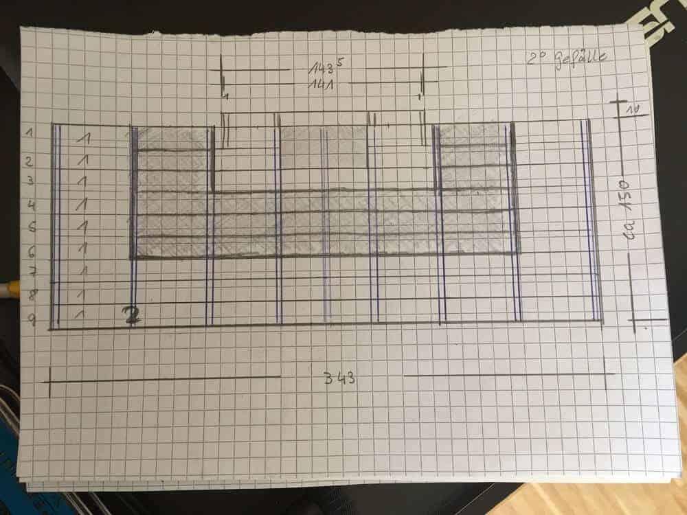 Treppe selber bauen - finale Skizze