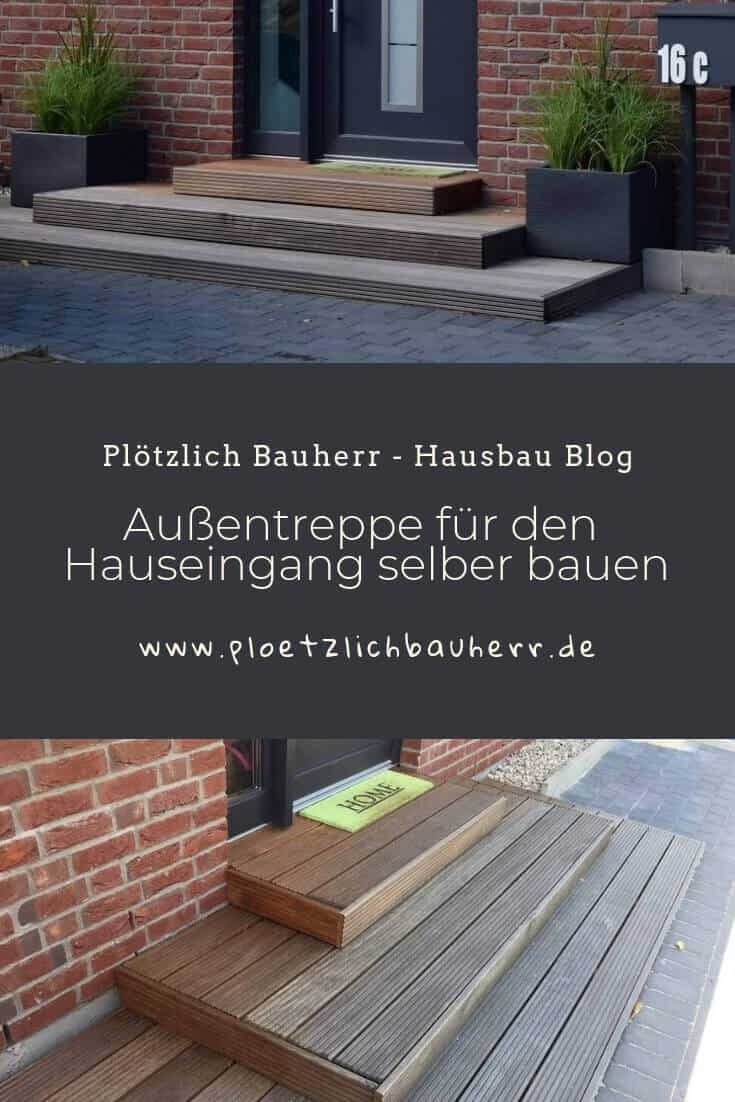 Außentreppe für den Hauseingang selber bauen #Hauseingang #Außentreppe #Treppeselberbauen