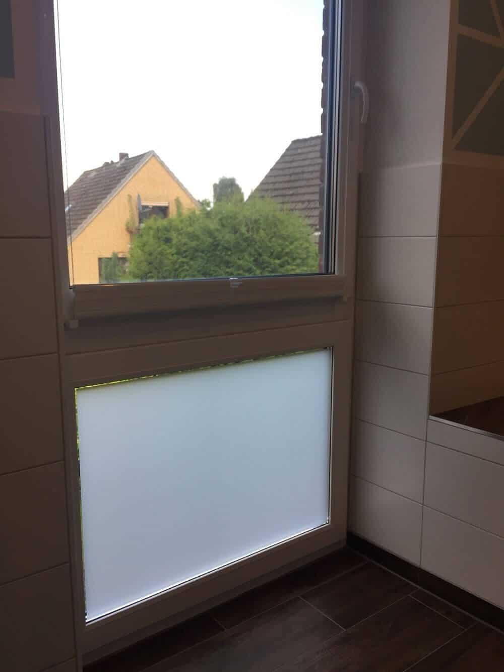 Milchglasfolie - Sichtschutzfolie im Schlaf- und Badezimmer ...