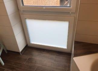 Milchglasfolie im Badezimmer