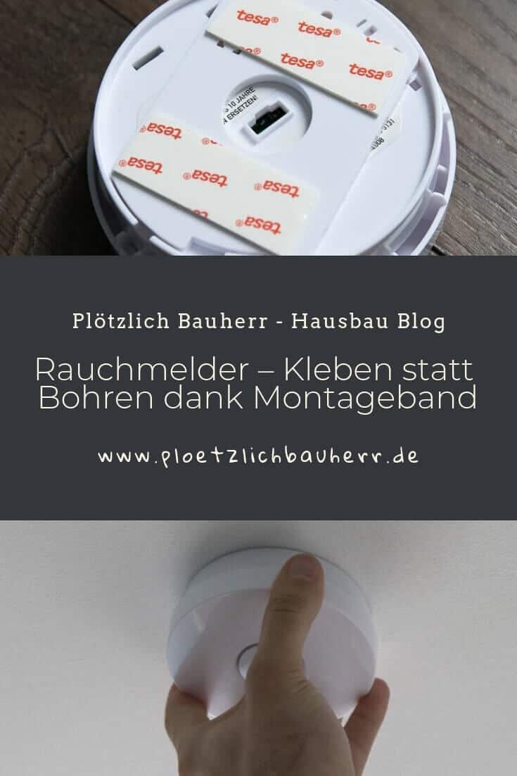 Rauchmelder - Kleben statt Bohren dank Montageband #Rauchmelder #klebenstattbohren