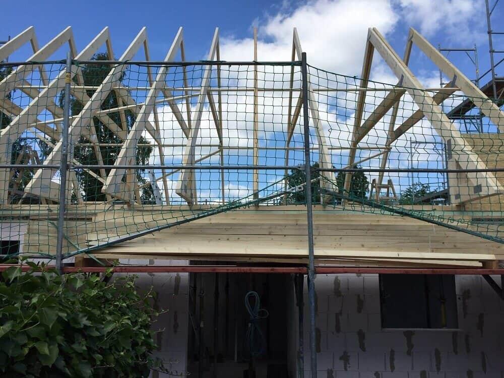 Der Dachstuhl für das Satteldach