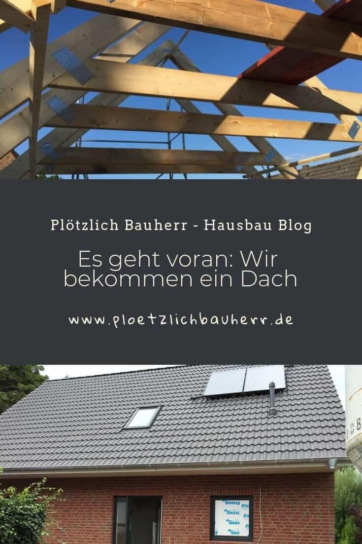Es geht voran Wir bekommen ein Dach #Dach #Hausbau