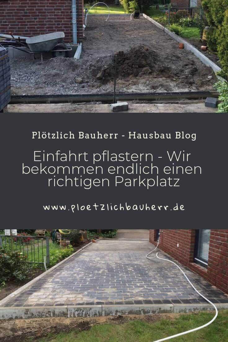 Einfahrt pflastern - Wir bekommen endlich einen richtigen Parkplatz #Parkplatz #Stellplatz #Parkfläche #Hausbau #Einfahrt #Pflasterarbeiten