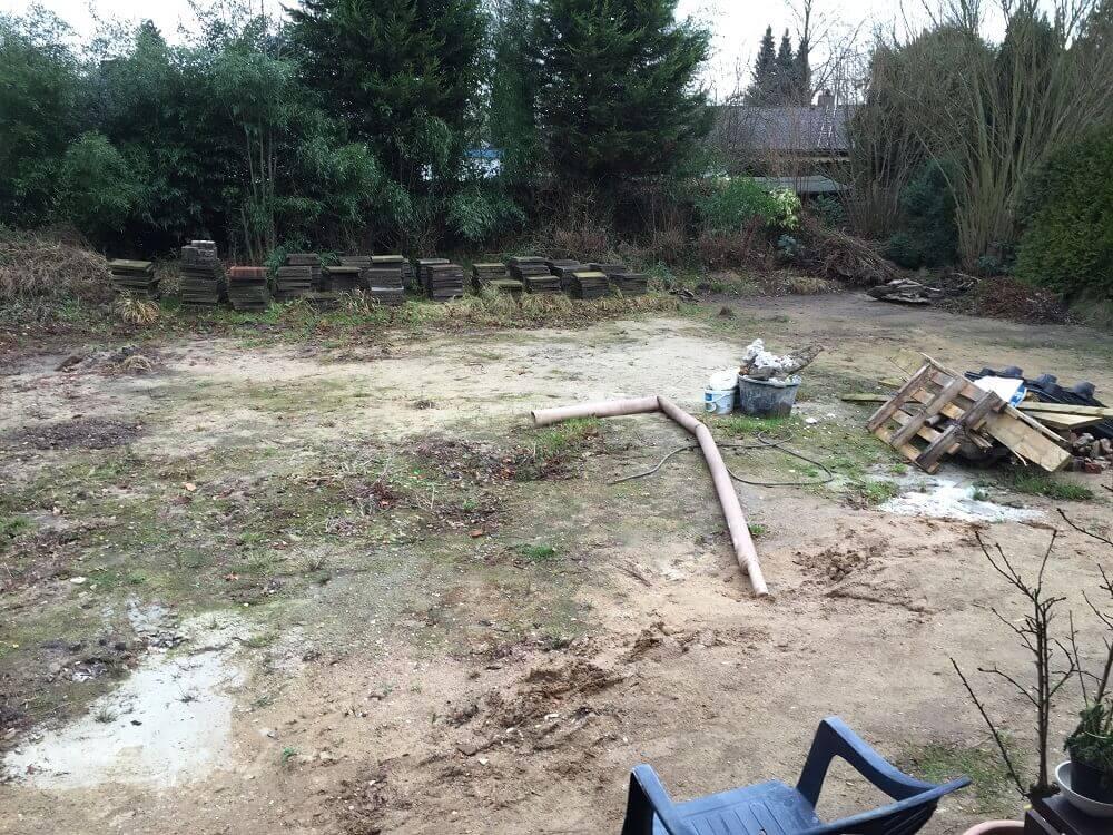 Unser Grundstück war voll mit Bambus
