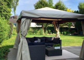 Gartenpavillon 3x3m mit Seitenteilen