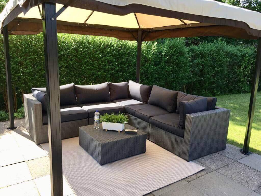 Gartenpavillon 3x3m mit Lounge Ecke