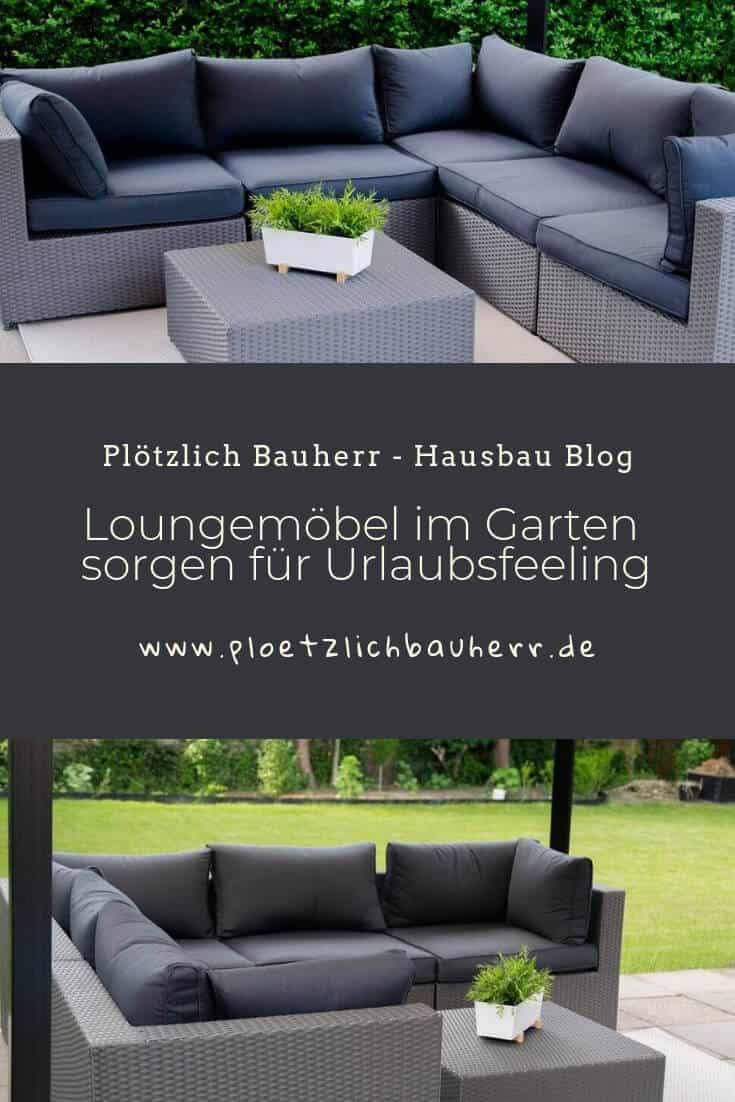 Urlaubsfeeling im eigenen Garten dank bequemer Loungemöbel #Garten #Lounge #gemütlich