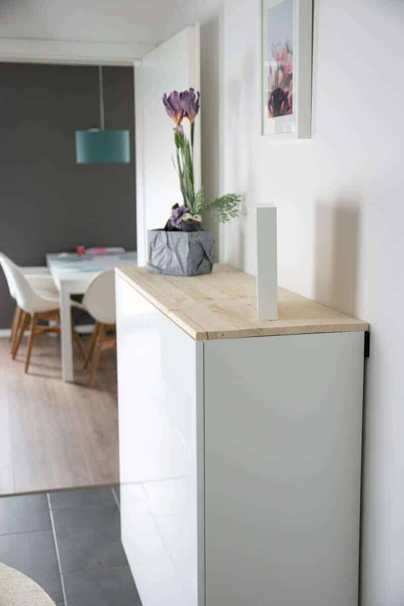 Ikea Hack Fur Mehr Stauraum Im Flur Aus Kuchenschrank Wird Sideboard