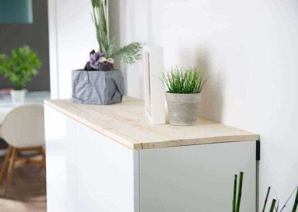 neues sideboard im flur ikea küchenschränke für mehr stauraum im flur