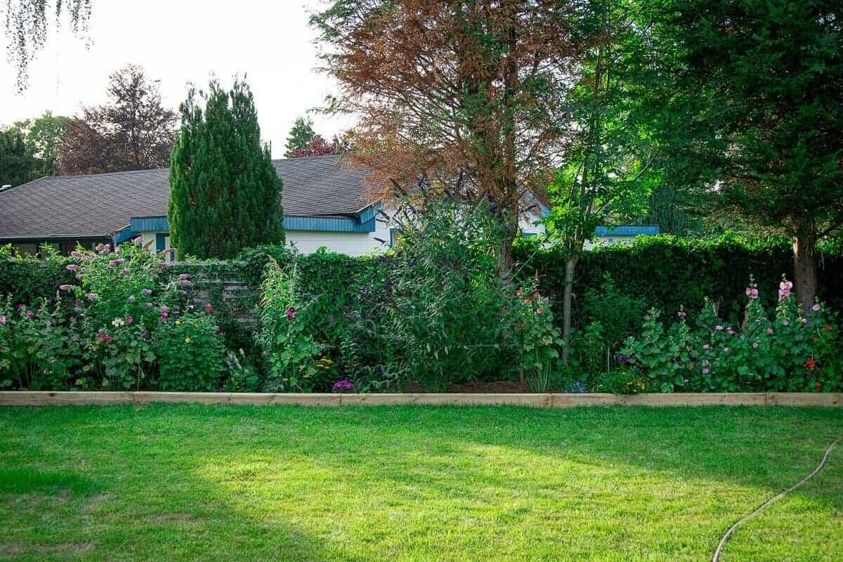 Die Gartenschwellen eignen sich ideal als Einfassung für unser Beet im Garten