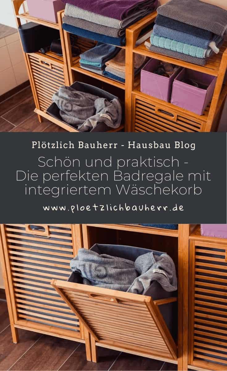 schön und praktisch die perfekten badregale mit integriertem wäschekorb