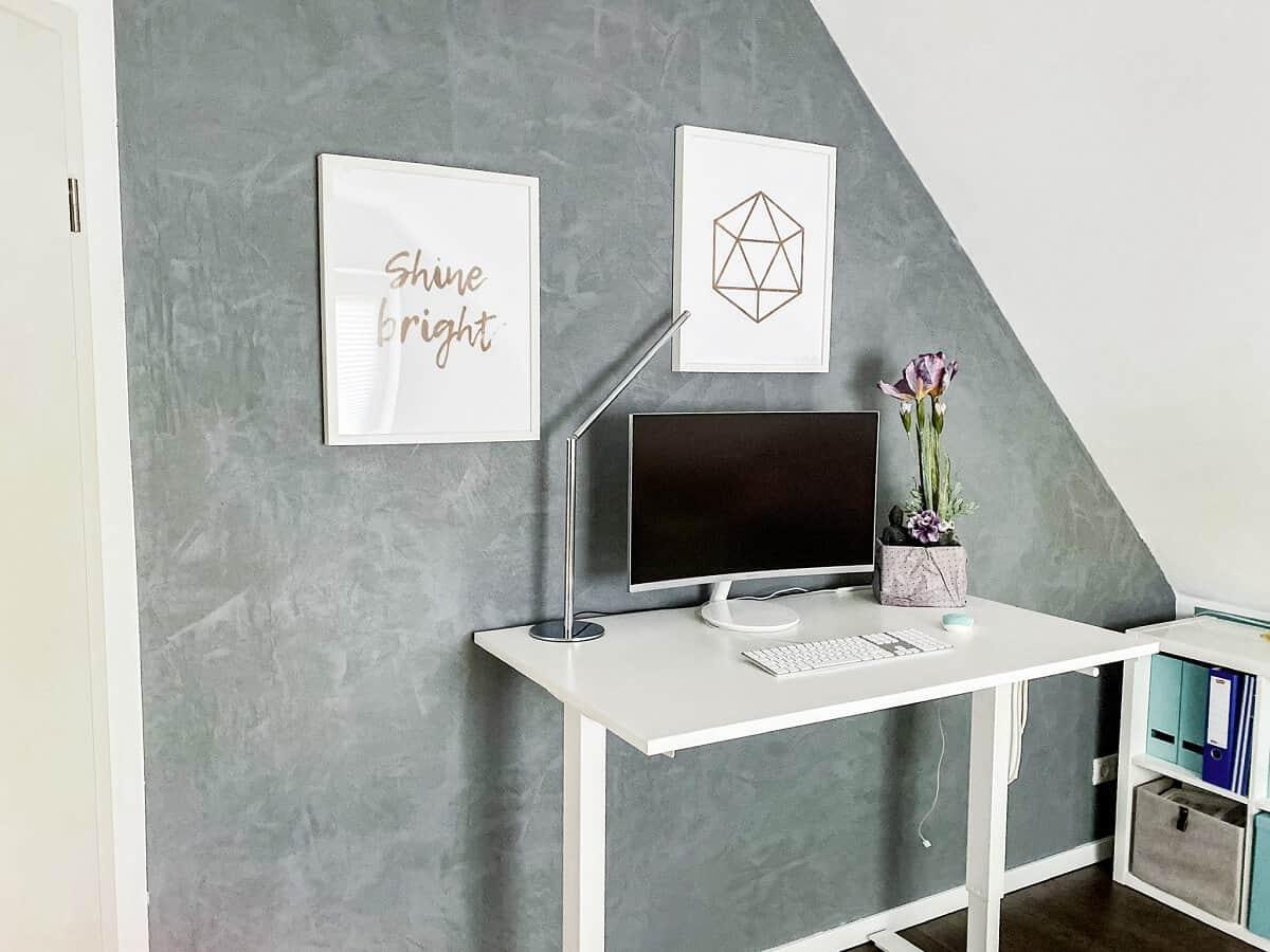 Wand Betonoptik - Ich habe meine Wand im Arbeitszimmer in Betonoptik gestrichen und liebe es