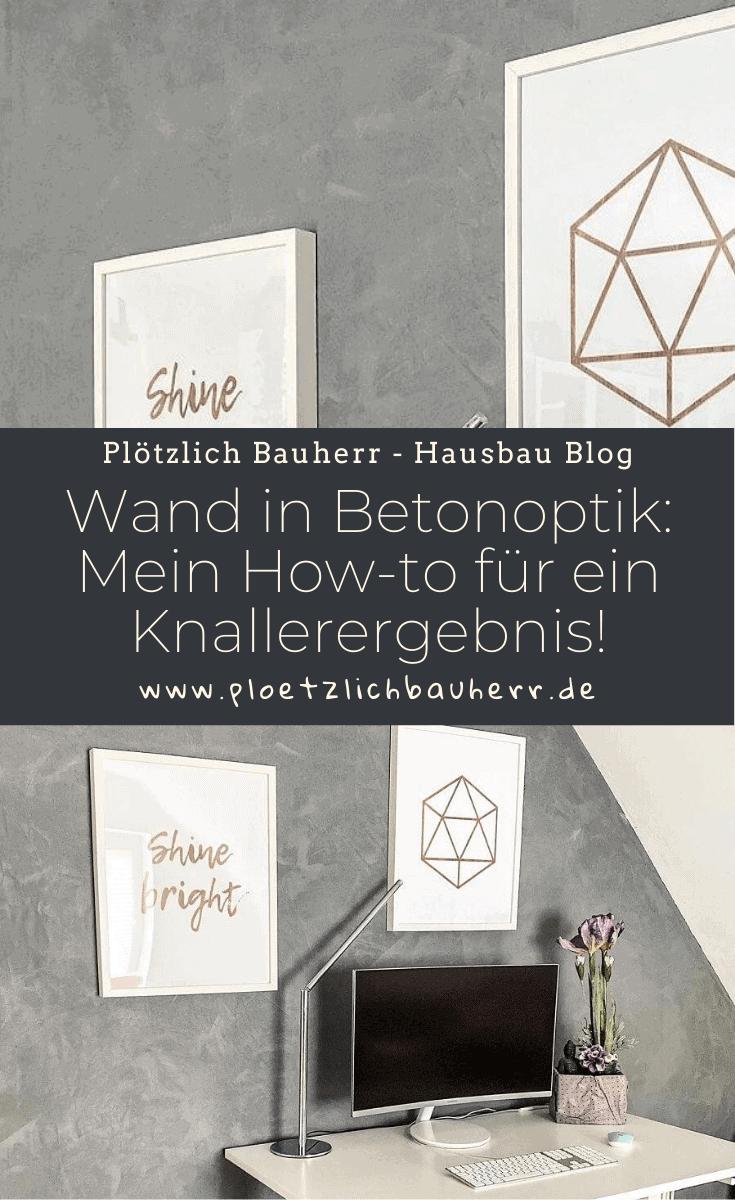 Wand in Betonoptik streichen - Mein How-To für ein absolutes Knallerergebnis