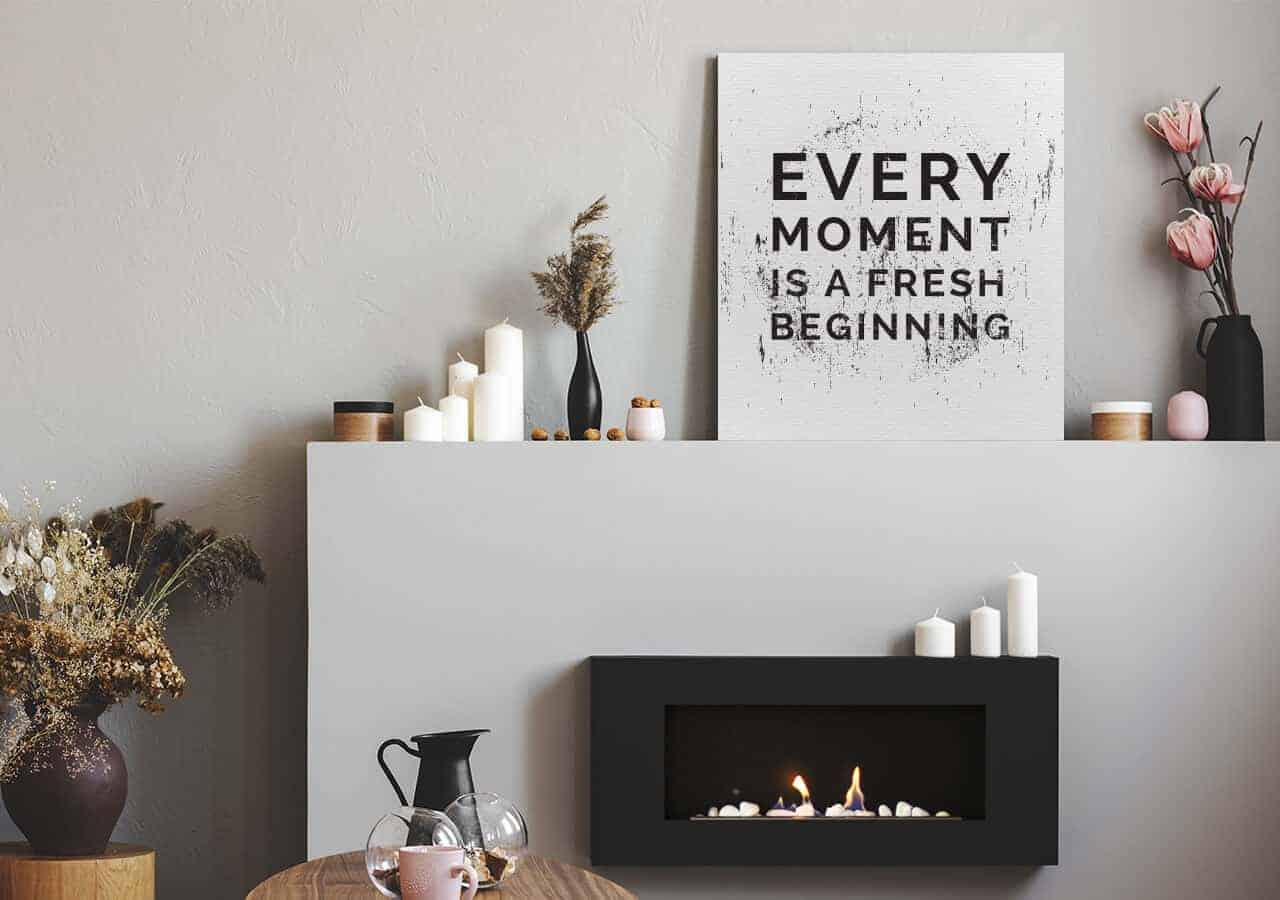 every moment is a fresh beginning - Motivierende Bilder