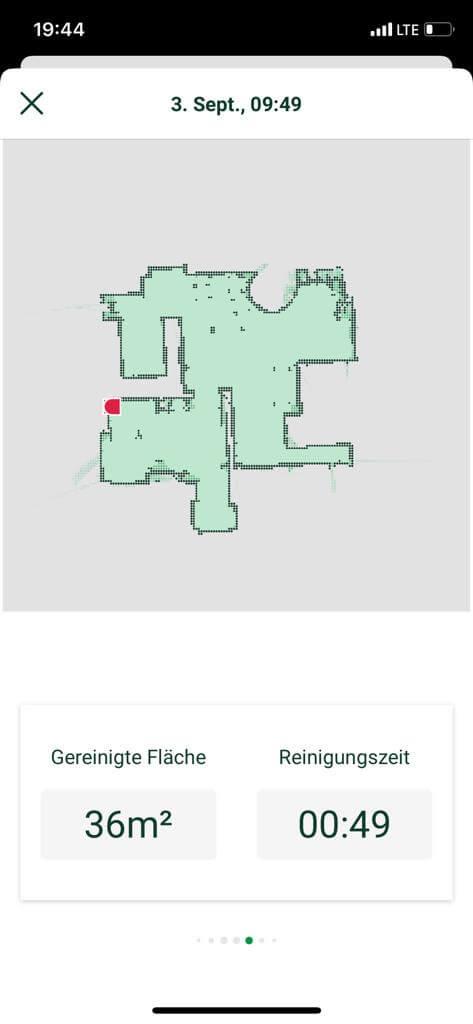 in der vorwerk app für den staubsaugerroboter kann man nachvollziehen wo gereinigt wurde
