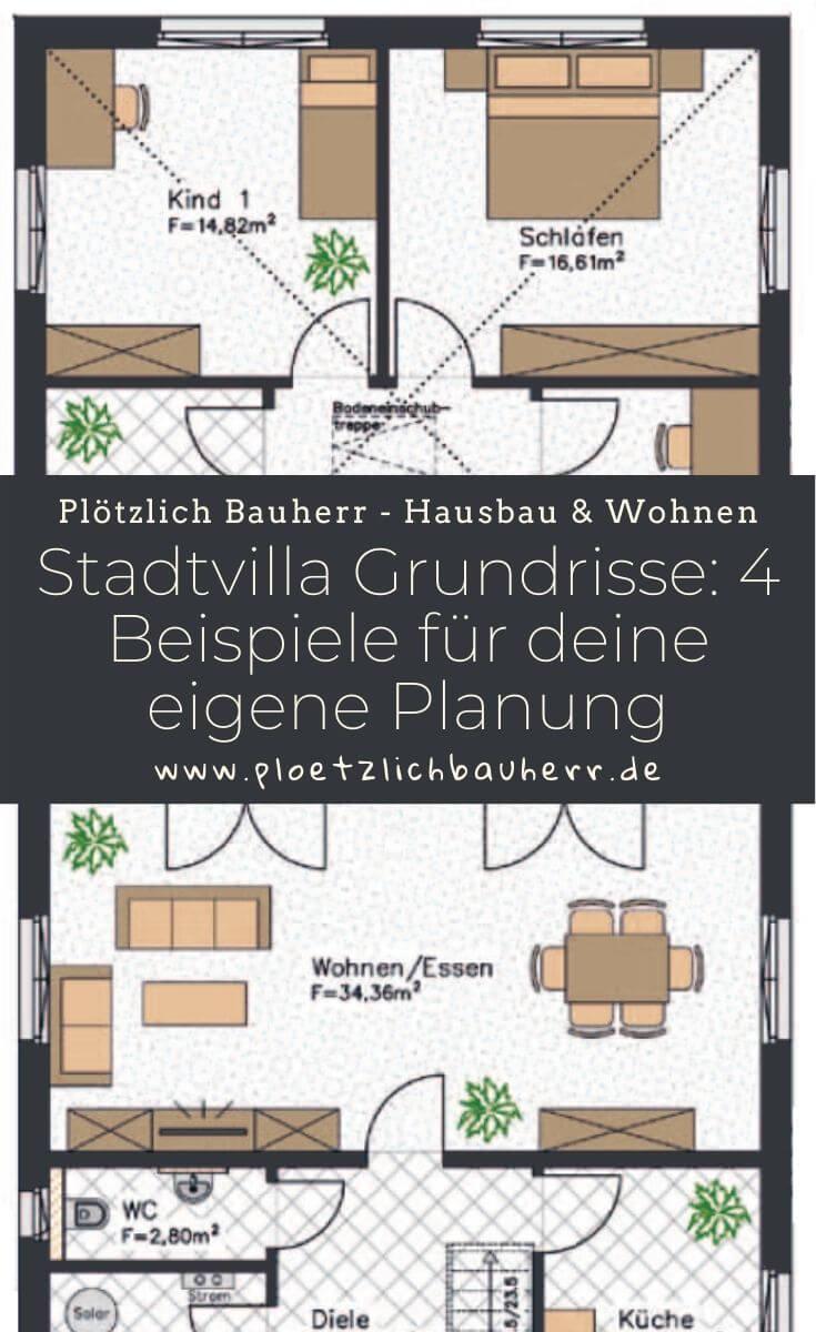 Stadtvilla Grundrisse - Hier findest Du 4 Beispiele für deine eigene Haubau Planung
