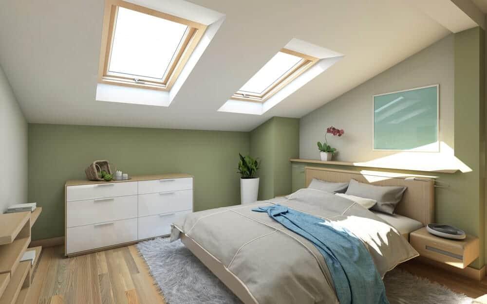 wer seinen spitzboden ausbauen moechte um beispielsweise ein tolles mintgruenes schlafzimmer zu bauen sollte einige punkte beachten