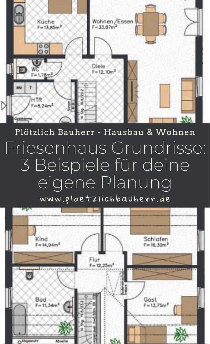 Friesenhaus Grundrisse - 3 Beispiele für deine eigene Planung