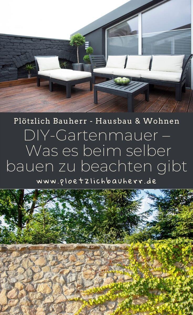 DIY-Gartenmauer – Was es beim selber bauen zu beachten gibt