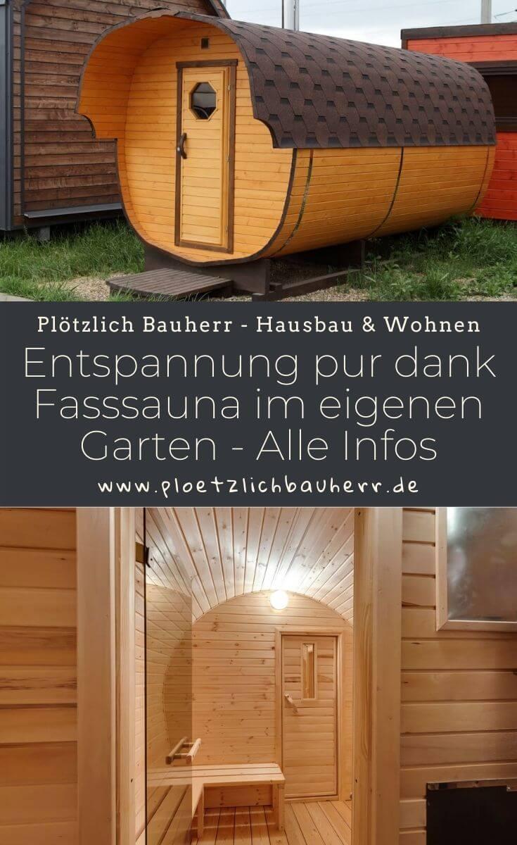 Entspannung pur dank Fasssauna im eigenen Garten - Hier findest Du alle Informationen #Gartensauna #Saunafass #Fasssauna