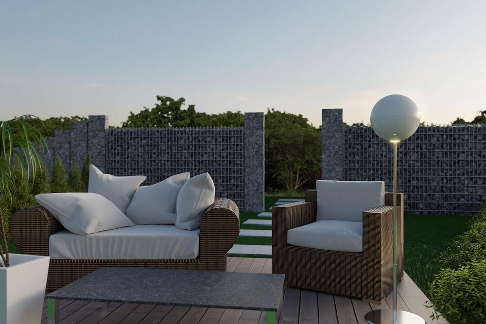 Gabionen sind enorm beliebt, sehr einfach zu errichten und ein toller Eyecatcher als Gartenmauer oder Sichtschutz